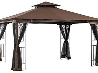 Sunjoy Regency Gazebo with Mosquito Netting actual product may vary from stock photo