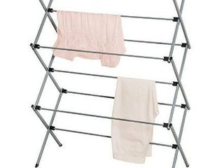 Collapsible clothes drying rack grey