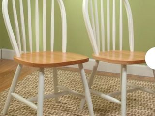 Arrowback chair set  2chairs white natural