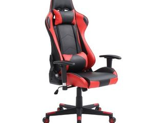 Hodedah Ultimate Gaming Chair with Headrest Pillow in Red
