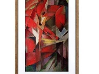 Meural Canvas II  The Smart Art Frame with 27 in  HD Digital Canvas That Renders Images and Photography in lifelike Detail   19X29 Dark Wood Frame   WiFi Connected   Powered by NETGEAR  MC327HW