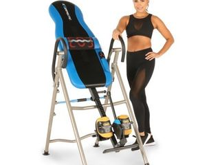 EXERPEUTIC 275Sl Heat and Massage Therapy Inversion Table with NO PINCH AIRSOFT Ankle Holder and SURElOCK Ratchet System