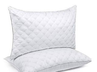 1Bed Pillow for Sleeping luxury Hotel Collection Gel Pillow Good for Side and Back Sleeper   Hypoallergenic Queen Size