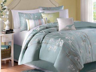 Madison Park Athena Green 7 piece Comforter Set  Retail 169 98