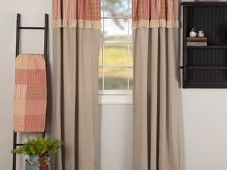 Sawyer Mill Patchwork Panel with Valance Set   Panel 84x40