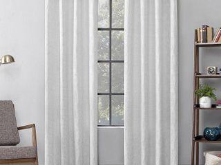 Geometric Cotton Blend Semi Sheer Grommet Curtain Panel