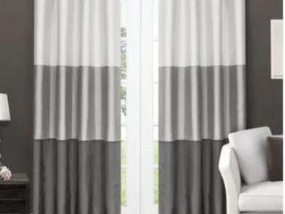 Porch   Den Ocean Striped Window Curtain Panel Pair with Grommet Top