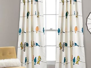 lush Decor Rowley Birds Room Darkening Window Curtains