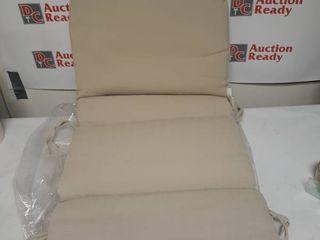 Suntastic O Top Beige linen Indoor  Outdoor High Back Chair Cushion