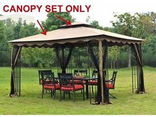 Sunjoy Replacement Canopy Set for l GZ043PST 3 10X12 GAZEBO  Retail 136 63