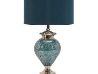 Casa Cortes Handcrafted Artisan Metal Mosaic Blue Table lamp  Retail 202 49