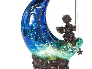 River of Goods Moon and Cherub Accent Table lamp