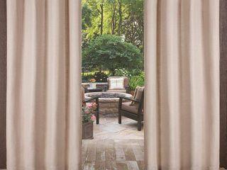 ATI Home Delano Indoor Outdoor Grommet Top Curtain Panel Pair
