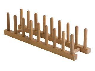 Bamboo Plate Rack Pot lid Holder