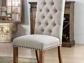 Tufted Upholstered Dining Chairs  Set of 2  Retail 284 49