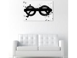 Fashionable Eyes Wall Art Canvas Print   Black  White  Retail 141 49