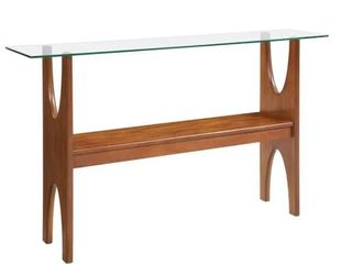 Carson Carrington Esbo Dark Sienna Console Table  Retail 173 99