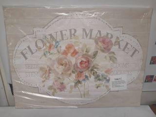 Canvas Wall Art Flower Market