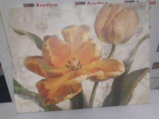 Orange Flower Framed WallArt