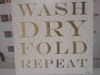 Spin Suds Iron Gold Bath and laundry Wall Art   Gold  White  Retail 157 99