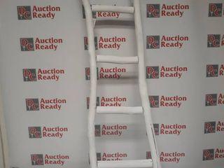 Dora 5 ft Decorative ladder   White Finish   59 5 H x 16 W x 2 D