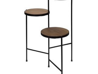 Tri level Metal and Wood Plant Stand  Retail 99 99