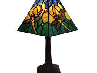 Tiffany Style Dragonfly Table lamp AM288Tl08B Amora lighting