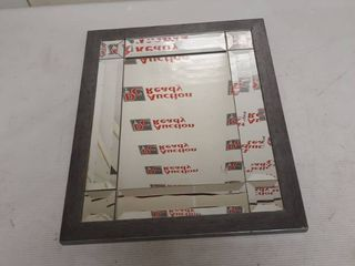 Wooden Framed Mirror 14 by 17 inches