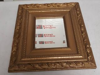 Golden Color Framed Mirror 18 by 20 inches