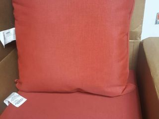 Outdoor Deep Seat and Cushion Red