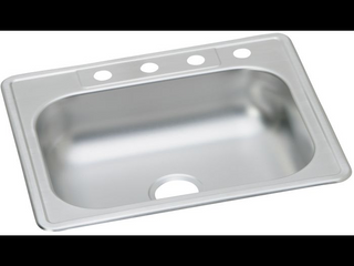 22 Gauge Stainless Steel 25  x 22  x 6  Single Bowl Drop in Kitchen Sink