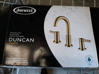 Jacuzzi Duncan Brushed Bronze 2 handle Widespread Bathroom Faucet 1102761