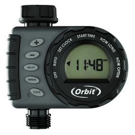 Orbit Digital Hose Sprinkler Irrigation Timer for Vacation lawn  Plant  and Garden Watering  1 Valve