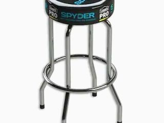 Spyder Black and Spyder Blue Upholstered Bar Stool