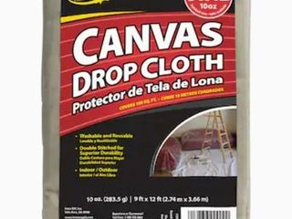 Proline 10 oz Canvas Drop Cloth  Common  9 ft x 12 ft  Actual 9 ft x 12 ft