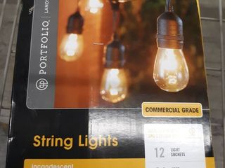 Portfolio 24 ft 12 light Plug in Bulbs String lights