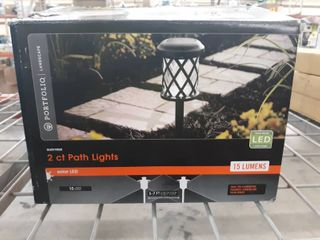Portfolio 2 pack 12x Brighter  14 4 lumen watt Black Solar Integrated led Path