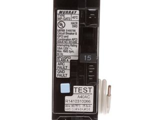 Murray MP115DFP 15A Dual Function AFCI GFCI Circuit Breaker