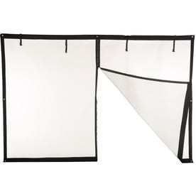 Comfort Bilt 196 in x 88 in Black Retractable Screen Door
