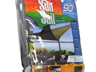 Easy Gardener 11 8 ft  Heavy Duty Triangle Sun Sail Garden Sun Shade Canopy Fabric in Gray