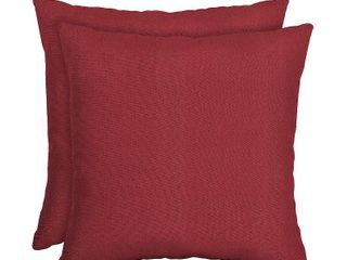 Arden Selections Woven Outdoor Throw Pillow Red  16X16