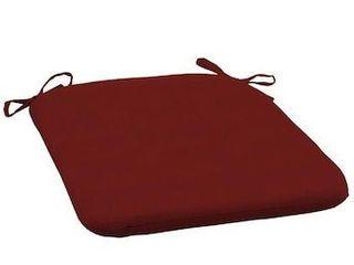 allen   roth Madera linen Dark Cherry Seat Pad