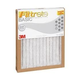 Filtrete 2 Pack Basic Pleated Pleated Air Filters  Common  20 in x 25 in x 1 in  Actual  19 6 in x 24 7 in x 1 in