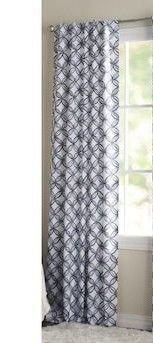 lIVING lOGIC ll MATHERSON 42 IN x 84 IN BlUE Pl 84 in Blue Polyester Blackout Thermal lined Single Curtain Panel