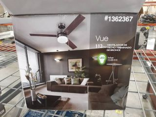 Harbor Breeze Vue 44 in Bronze led Indoor Ceiling Fan With light Kit  1362367