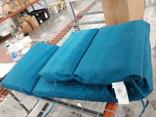 Teal Blue High Back Chaise Cushion