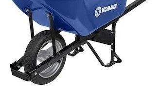 Kobalt 6 cu ft Steel Wheelbarrow Hardware with Flat Free Tire s