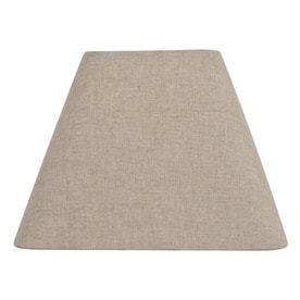 allen   roth 12 in x 15 in Tan linen Fabric Square lamp Shade