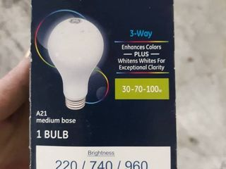 Ge Reveal watt Eq A21 Color enhancing 3 way Bulb Dimmable led light Bulb Med Bas
