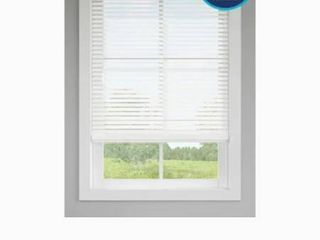 levolor 2 in White Faux Wood Blinds Precut To 53 1 2 X 64 In